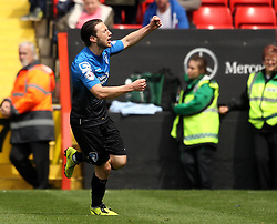 Bournemouth's Harry Arter celebrates his first half goal - Photo mandatory by-line: Robbie Stephenson/JMP - Mobile: 07966 386802 - 02/05/2015 - SPORT - Football - Charlton - The Valley - Charlton v AFC Bournemouth - Sky Bet Championsip