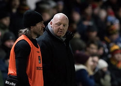 Dragons' Head Coach Bernard Jackman during the pre match warm up<br /> <br /> Photographer Simon King/Replay Images<br /> <br /> Guinness PRO14 Round 14 - Dragons v Glasgow Warriors - Friday 9th February 2018 - Rodney Parade - Newport<br /> <br /> World Copyright © Replay Images . All rights reserved. info@replayimages.co.uk - http://replayimages.co.uk
