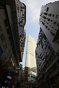 Hong Kong, Kowloon. Highrise buildings.