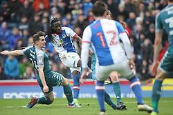 Marvin Emnes of Blackburn Rovers (C) scores his sides first goal - Mandatory by-line: Jack Phillips/JMP - 04/03/2017 - FOOTBALL - Ewood Park - Blackburn, England - Blackburn Rovers v Wigan Athletic - Football League Championship