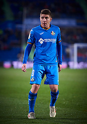 January 22, 2019 - Getafe, U.S. - GETAFE, SPAIN - JANUARY 22: Francisco Portillo Soler, midfielder of Getafe CF, looks during the Copa del Rey match between Getafe CF and Valencia CF at Coliseum Alfonso Perez stadium on January 22, 2019 in Getafe, Spain. (Photo by Carlos Sanchez Martinez/Icon Sportswire) (Credit Image: © Carlos Sanchez Martinez/Icon SMI via ZUMA Press)