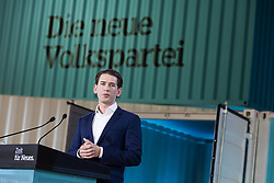 "01.07.2017, Design Center, Linz, AUT, ÖVP, 38. ordentlicher Bundesparteitag, mit Wahl von Bundesminister Kurz zum neuen Bundesparteiobmann, unter dem Motto ""Zeit für Neues - Zusammen neue Wege gehen"". im Bild Außenminister und designierter ÖVP-Chef Sebastian Kurz // sAustrian Foreign Minister Sebastian Kurz during political convention of the Austrian People' s Party with election of Sebastian Kurz as the new party leader at Design Centre in Linz, Austria on 2017/07/01. EXPA Pictures © 2017, PhotoCredit: EXPA/ Michael Gruber"