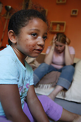 Drug addict mother in charge of child,