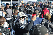 Dec 3, 2017; Oakland, CA, USA; General view of tail gaiting  prior to an NFL game between the New York Giants and the Oakland Raiders at Oakland-Alameda County Coliseum.