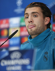 December 4, 2017 - Madrid, Spain - Real Madrid's Croatian midfielder Mateo Kovacic gives a press conference following a training session at Valdebebas Sport City in Madrid on December 5, 2017 on the eve of their Champions' League match against Borussia Dortmund. (Credit Image: © Raddad Jebarah/NurPhoto via ZUMA Press)