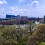 Panorama photo with view of University of Kansas Medical Center in Kansas City, Kansas.