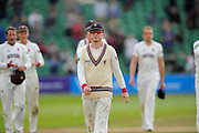Chris Rogers of Somerset leads his team from the field after their victory over Nottinghamshire in the Specsavers County Champ Div 1 match between Somerset County Cricket Club and Nottinghamshire County Cricket Club at the Cooper Associates County Ground, Taunton, United Kingdom on 22 September 2016. Photo by Graham Hunt.