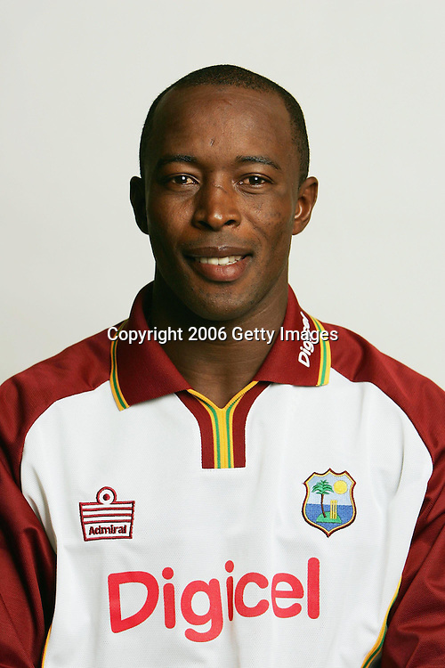 AUCKLAND, NEW ZEALAND - FEBRUARY 11:  Deighton Butler of the West Indies cricket team poses during a team portrait session February 11, 2006 in Auckland, New Zealand.  (Photo by Getty Images for Digicel)