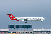 Helvetic Airways, Fokker F100 at Malpensa (MXP / LIMC), Milan, Italy