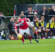 Dundee&rsquo;s Jesse Curran and Brechin's Andy Jackson  - Brechin City v Dundee pre-season friendly at Glebe Park, Brechin, Photo: David Young<br /> <br />  - &copy; David Young - www.davidyoungphoto.co.uk - email: davidyoungphoto@gmail.com