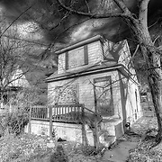 Abandoned House near Linwood and Wayne Streets, Kansas City, Missouri.