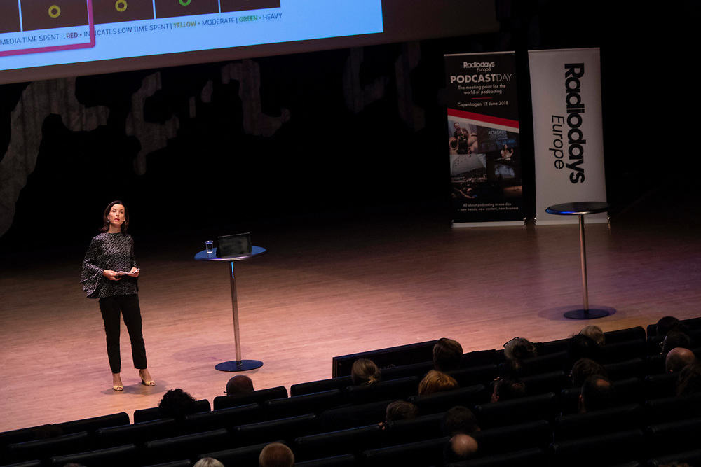 Images from the 2018 RadioDays Europe Podcast Day, held at Copenhagen's Black Diamond