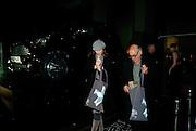 MICHAEL NYMAN; CHRISTINA MORONDINA, Wallpaper  Design Awards in partner ship with aSton Martin. The Edison, 223-231 Old Marylebone Road, London. 12 January 2011. . This year it is in partnership with Aston Martin.-DO NOT ARCHIVE-© Copyright Photograph by Dafydd Jones. 248 Clapham Rd. London SW9 0PZ. Tel 0207 820 0771. www.dafjones.com.
