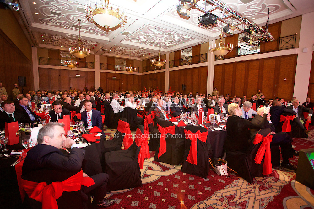 NEWPORT, WALES - Friday, May 29, 2015: Delegates during the Football Association of Wales' National Coaches Conference 2015 at the Celtic Manor Resort. (Pic by David Rawcliffe/Propaganda)