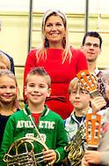HAARLEM  - Queen maxima school in Haarlem to visit the program Children for music. COPYRIGHT ROBIN UTRECHT