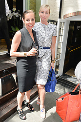 Left to right, CAROLE SILLER and MORTIMER WHELAN at a ladies lunch at Toto's, Walton Street, London on 12th June 2014.