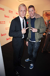 Left to right, R&B artist Mr Hudson and Rapper Professor Green at a party to celebrate the launch of Buzz a new magazine from The Sun newspaper held at Il Bottacio, 9 Grosvenor Place, London SW1 on 15th September 2010