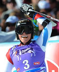 26.10.2013, Rettenbachferner, Soelden, AUT, FIS Weltcup, Ski Alpin, Riesenslalom, Damen, 2. Durchgang, im Bild Lara Gut (SUI, 1. Platz) // 1st place Lara Gut of Switzerland reacts after her 2nd run of ladies Giant Slalom of the FIS Ski Alpine Worldcup opening at the Rettenbachferner in Soelden, Austria on 2012/10/26. EXPA Pictures © 2013, PhotoCredit: EXPA/ Erich Spiess