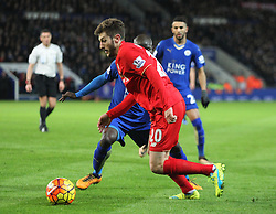 Adam Lallana of Liverpool in action - Mandatory byline: Jack Phillips/JMP - 02/02/2016 - FOOTBALL - King Power Stadium - Leicester, England - Leicester City v Liverpool - Barclays Premier League