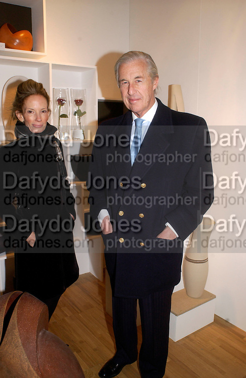 Mr. and Mrs. ( Anne/Ann) Martin Summers, Opening of Collect, new fair for contemprary objects. V. & A. 19 February 2004. ONE TIME USE ONLY - DO NOT ARCHIVE  © Copyright Photograph by Dafydd Jones 66 Stockwell Park Rd. London SW9 0DA Tel 020 7733 0108 www.dafjones.com