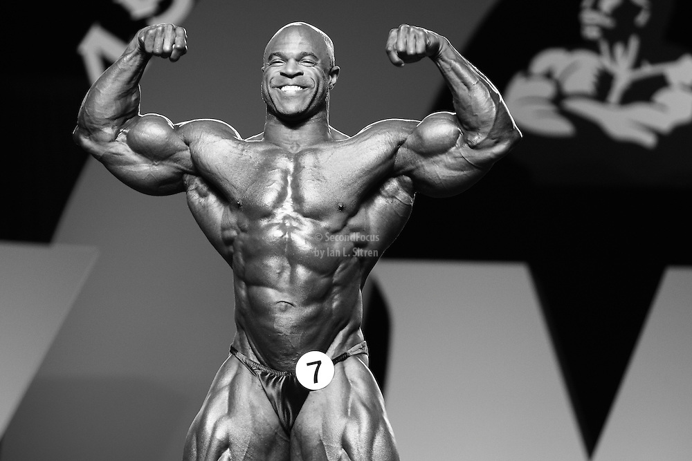 Ed Nunn competing at the 2010 Mr. Olympia finals in Las Vegas.