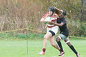 Hanna Bell on the rugby field in action.