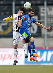 03.03.2018, TGW Arena, Pasching, AUT, 1. FBL, LASK Linz vs SK Puntigamer Sturm Graz, 25. Runde, im Bild v.l. Peter Michorl (LASK Linz), Philipp Huspek (SK Puntigamer Sturm Graz) // during the Austrian Football Bundesliga 25th Round match between LASK Linz und SK Puntigamer Sturm Graz at the TGW Arena in Pasching, Austria on 2018/03/03. EXPA Pictures © 2018, PhotoCredit: EXPA/ Roland Hackl