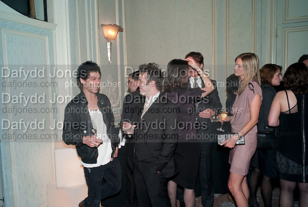 TIM NOBLE; HARPER SIMON; ; MALIN JEFFERIES, Dinner to mark 50 years with Vogue for David Bailey, hosted by Alexandra Shulman. Claridge's. London. 11 May 2010 *** Local Caption *** -DO NOT ARCHIVE-© Copyright Photograph by Dafydd Jones. 248 Clapham Rd. London SW9 0PZ. Tel 0207 820 0771. www.dafjones.com.<br /> TIM NOBLE; HARPER SIMON; ; MALIN JEFFERIES, Dinner to mark 50 years with Vogue for David Bailey, hosted by Alexandra Shulman. Claridge's. London. 11 May 2010