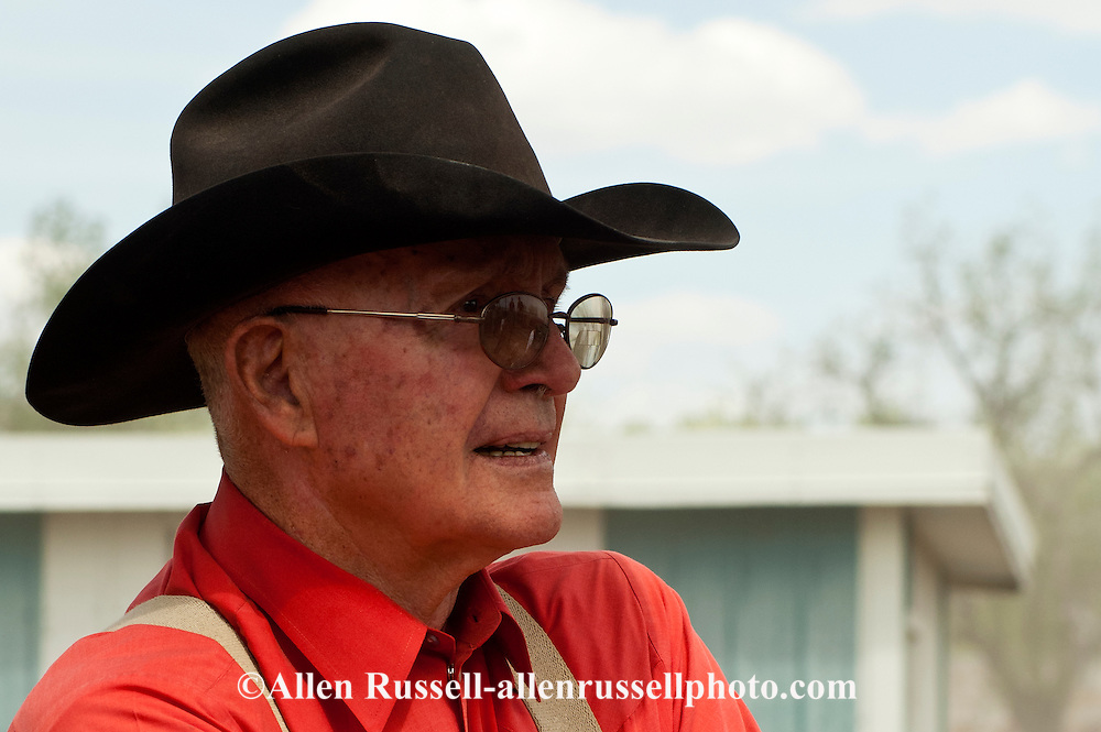 Sonny Linger, cowboy, Pro Rodeo Hall of Fame, rodeo contractor, chute boss for years at Miles City Bucking Horse Sale and National Finals Rodeo, Montana