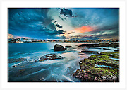 A beautiful dramatic sky over Bondi at the onset of dusk [North Bondi, NSW, Australia]<br />
