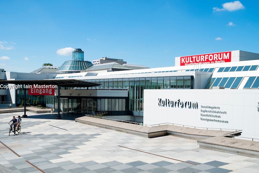 Gemaldegalerie museum at Kulturforum complex in Berlin Germany
