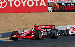 Dario Franchitti (10) lead all 75 laps of the 2009 Sonoma Grand Prix IndyCar race was held at Infineon Raceway in Sonoma, California on August 23, 2009.