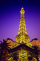 The Eiffel Tower at Paris Las Vegas hotel and casino, Las Vegas Boulevard (the Strip), Las Vegas, Nevada USA