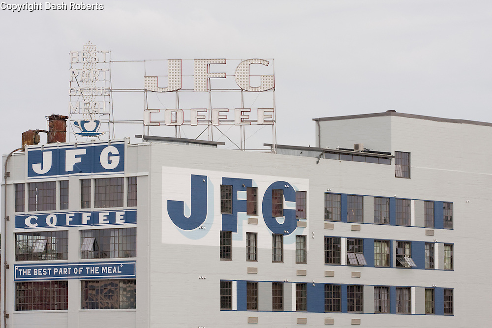 JFG Building, located in the Old City section of Knoxville, is a recently renovated rental loft facility.  This building, as indicated by its name, was the former home of JFG Coffee.