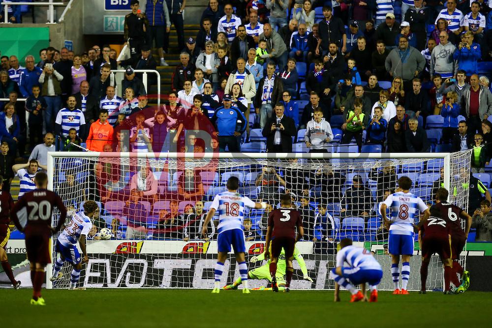 Goal, Daniel Williams of Reading scores from the penalty spot, Reading 2-1 Ipswich Town - Mandatory by-line: Jason Brown/JMP - 09/09/2016 - FOOTBALL - Madejski Stadium - Reading, England - Reading v Ipswich Town - Sky Bet Championship