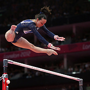 Elizabeth Tweddle, Great Britain, in action winning the Bronze Medal during the Gymnastics Artistic, Women's Apparatus, Uneven Bars Final at the London 2012 Olympic games. London, UK. 6th August 2012. Photo Tim Clayton