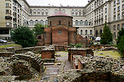The Church of St George is an Early Christian red brick rotunda, Sofia, Bulgaria