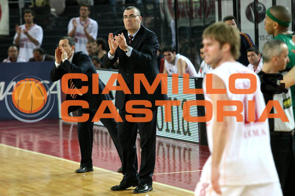 DESCRIZIONE : Roma Lega A1 2006-07 Lottomatica Virtus Roma Montepaschi Siena<br /> GIOCATORE : Repesa Saibene Stefansson<br /> SQUADRA : Lottomatica Virtus Roma<br /> EVENTO : Campionato Lega A1 2006-2007 <br /> GARA : Lottomatica Virtus Roma Montepaschi Siena<br /> DATA : 18/03/2007 <br /> CATEGORIA : Esultanza<br /> SPORT : Pallacanestro <br /> AUTORE : Agenzia Ciamillo-Castoria/M.Marchi<br /> Galleria : Lega Basket A1 2006-2007 <br /> Fotonotizia : Roma Campionato Italiano Lega A1 2006-2007 Lottomatica Virtus Roma Montepaschi Siena<br /> Predefinita :