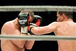 Slovenian Boxer Denis Simcic and Romanian Boxer Istvan Varga at WBF Internationale Meisterschaft, Denis Simcic, SLO vs Istvan Varga, ROM, on September 4, 2010, in Ljubljana, Slovenia. (Photo by Matic Klansek Velej / Sportida)