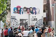 The 27 club Graffiti wall art in Florentin neighbourhood, Tel Aviv