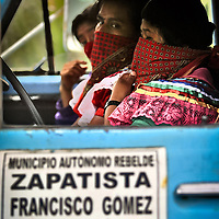 Members of the Mexican Zapatista Army of National Liberation (EZLN) during the celebration act of the New Year in the community of La Garrucha, 12 year ago since the revolutionary movement starts in the south of Mexico. La Garrucha, Chiapas, M?xico. December 31, 2005. PHOTO /BERNARDO DE NIZ