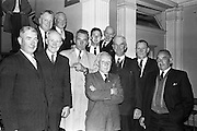 A group of former All-Ireland players, among whom were five who played in Croke Park on Bloody Sunday 1920, were guests at a showing of the Gael-Linn film 'Peil' at the Metropole cinema. Included are Paddy McDonnell, John Synott, rtommy Ryan, John McDonnell, Stephen Synott, tony Herbery, Dan Dunne, Tommy Moore, Mattie Power, Tim O'Donnell and Pat Synott. 29.04.1963