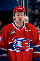 KELOWNA, BC - FEBRUARY 06:  Nolan Reid #7 of the Spokane Chiefs stands on the ice against the Kelowna Rockets at Prospera Place on February 6, 2019 in Kelowna, Canada. (Photo by Marissa Baecker/Getty Images)