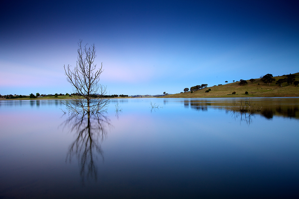 Twilight at Carcoar Dam. New south wales, Australia.