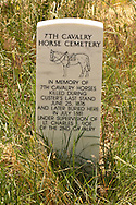 Little Bighorn Battlefield National Monument, Montana, memorial for 7th Cavalry horses killed in battle