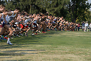 Nov 9, 2018; Sacramento, CA, USA; General overall view of the men's start during the NCAA West Regional at Haggin Oaks Golf Course.