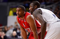 Real Madrid's Othello Hunter and EA7 Emporio Armani Milan's Jamel Mclean during Turkish Airlines Euroleage match between Real Madrid and EA7 Emporio Armani Milan at Wizink Center in Madrid, Spain. January 27, 2017. (ALTERPHOTOS/BorjaB.Hojas)