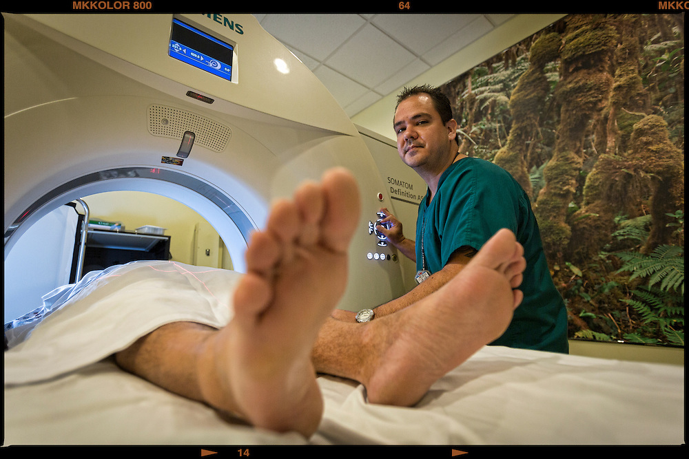 Gary Massengill, 39, Radiology Manager for 5 years with Molokai General Hospital. 'I enjoy the tight-knit culture within the hospital delivering the best care to our patients.""