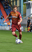 Josh Morris looks to make a break down the wing during the Sky Bet League 1 match between Oldham Athletic and Bradford City at Boundary Park, Oldham, England on 5 September 2015. Photo by Mark Pollitt.