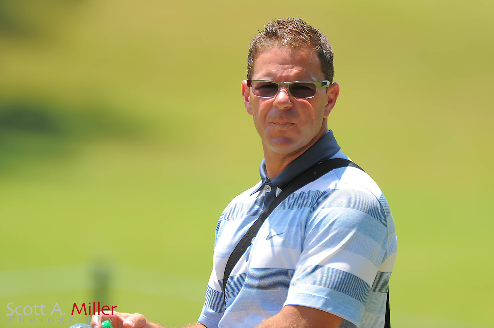 Instructor Sean Foley during a practice round prior to the Players Championship at the TPC Sawgrass on May 9, 2012 in Ponte Vedra, Fla. ..©2012 Scott A. Miller.
